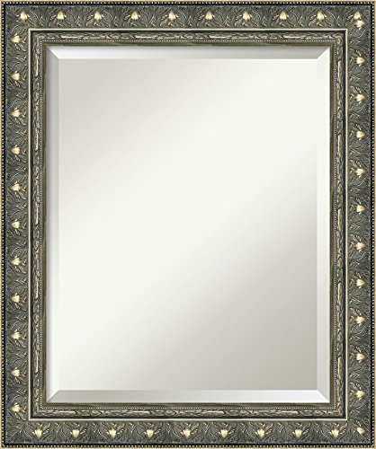 Mirror Beaded Cabinet Framed - Amanti Art Bathroom Mirror Medium, Fits Standard 24