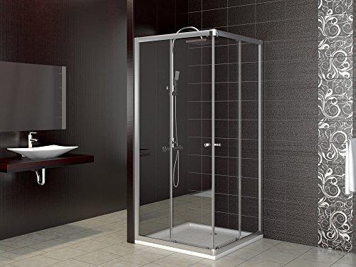 Dusche Duschkabine Schiebetür Eckdusche Duschabtrennung Duschschiebetür Glas 90x90