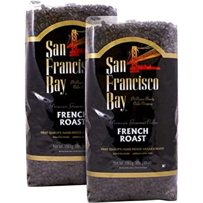 San Francisco Bay French Roast Whole Bean Coffee 3 lb. Bag 2-pack