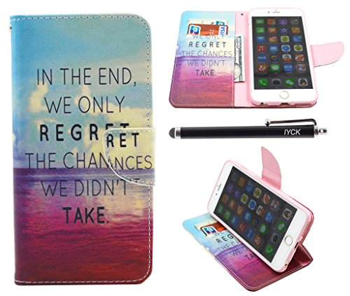 iPhone 6S Plus Case, iPhone 6 Plus Case Wallet, iYCK Premium PU Leather Flip Folio Carrying Magnetic Closure Protective Shell Wallet Case Cover for iPhone 6 / 6S 5.5 with Kickstand Stand - in The End