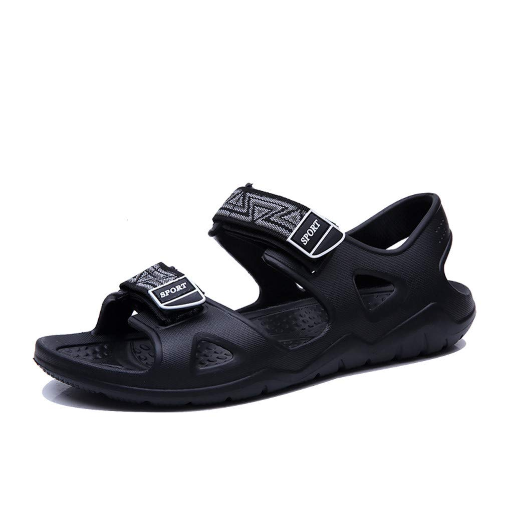 Summer Men's Sandals,Summer Outdoor Mens Flats Casual Beach Athletic Shoes Breathable Sport Sandals