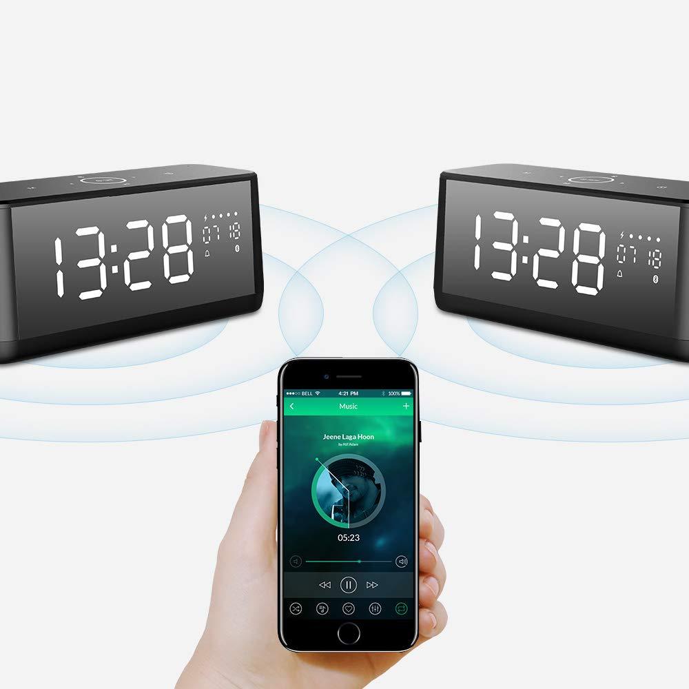Altavoz Bluetooth, MIFA A30 Altavoz Portátil 30W con LED Pantalla y Reloj, Sonido Digital 3D, Sonido Estéreo TWS y DSP, Micrófono Incorporado, ...