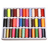 OFKP® Pack Of 39 Spools Rainbow Assorted Colour Colors Polyester Sewing Thread Box Kit Set Ideal For Quilting Stitching / Hand Sewing / Machine Sewing