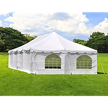 Amazon.com : 20 ft by 20 ft White Canopy Pole Tent, Complete Set ...