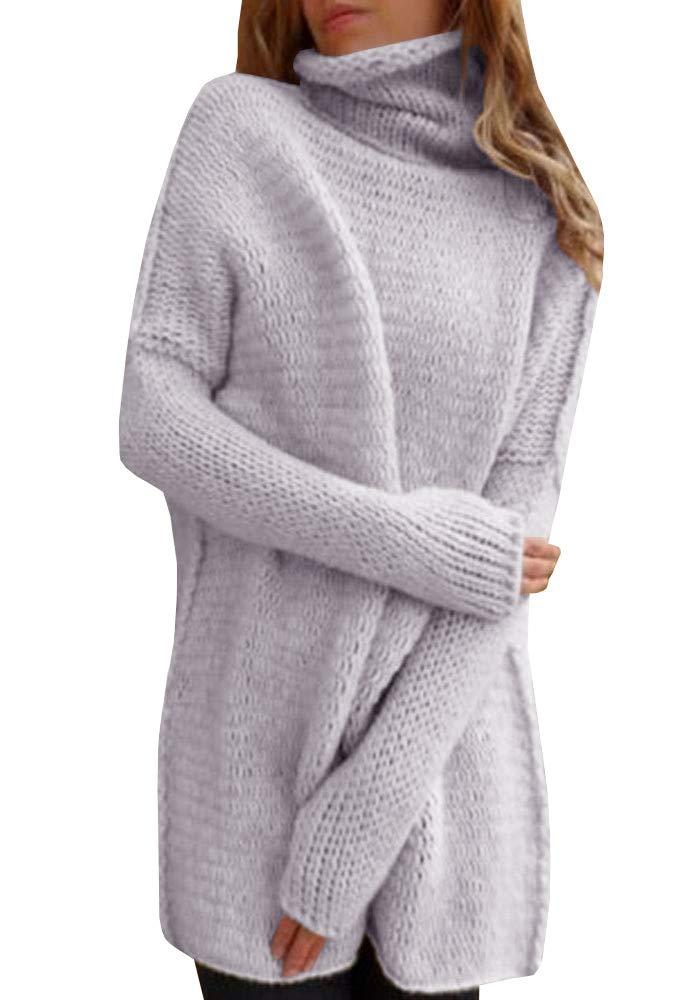 Inorin Women Sweaters Oversized Pullover High Neck Long Knit Fall Winter Sweater Jumper Tops