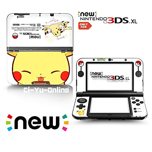 Ci-Yu-Online VINYL SKIN [new 3DS XL] - Pokemon #5 Pikachu Yellow - Limited Edition STICKER DECAL COVER for NEW Nintendo 3DS XL / LL Console System