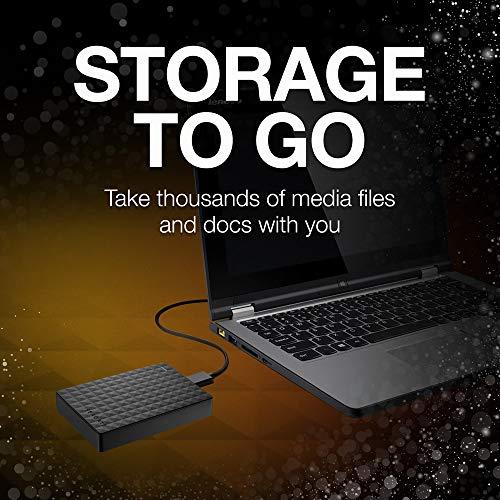 Seagate 1TB Black (STEA1000400) Expansion Portable External Hard Drive - PC / Mac / Xbox / PS4