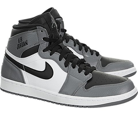 Nike Jordan Mens Air Jordan 1 Retro High Cool Grey/Black White Basketball Shoe 13 Men US