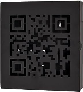 HAKU Möbel Schlüsselkasten, Metall, grau, 5 x 22 x 24 cm