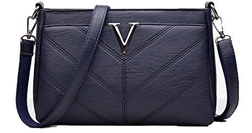 Purple Zippers Women's Blue Shopping TSDBH180973 Pu Bags Casual Bag Shoulder Clutch AalarDom gwxvHBOx