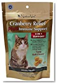 NaturVet 50 Count Cranberry Relief Plus Immune 2-in-1 Soft Chew for Cats
