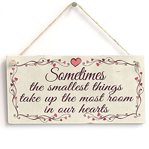 Meijiafei Sometimes The Smallest Things take up The Most Room in Our Hearts - Vintage PVC Sign/Plaque 10