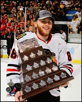 Conn Smythe Trophy - Patrick Kane with the Conn Smythe Trophy Game 6 of the 2013 Stanley Cup Finals Art Poster PRINT Unknown 8x10