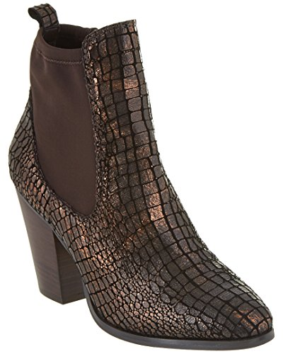 Donald Pliner Senor Leather Bootie, 6, Metallic