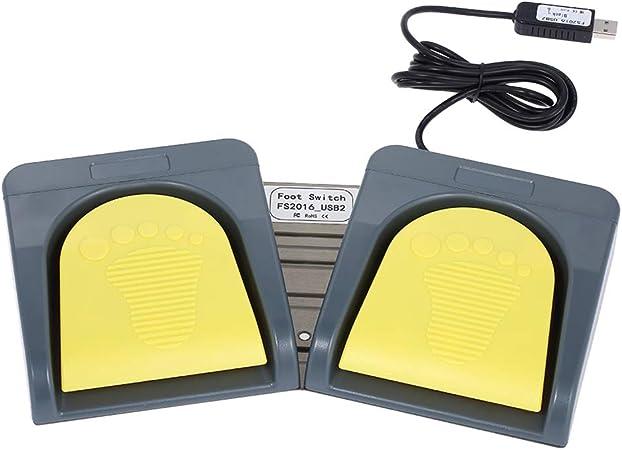 Docooler PCsensor USB 2 Foot Cambiar Teclado Multimedia Teclado Gamepad Rat Cuerdas Acci Pedal