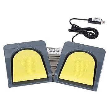 Docooler pcsensor USB 2 Foot Switch Teclado Multimedia Teclado Gamepad ratón Cuerdas acción Pedal: Amazon.es: Informática