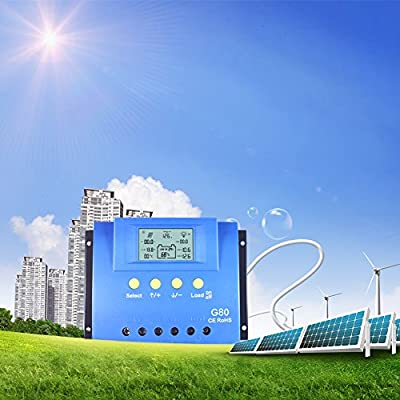 Solar Cherge Controller,Y-solar 30A 60A 80A PWM Solar Charge Controller Battery Regulator Backlight LCD USB