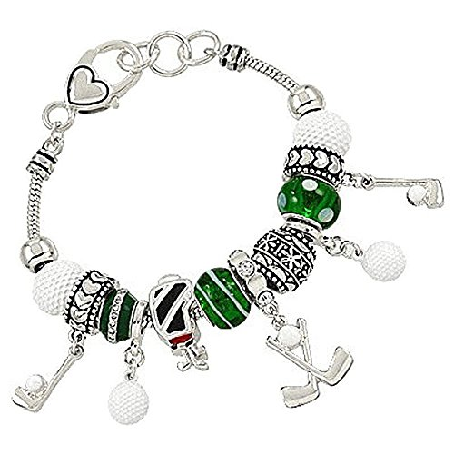 Lola Bella Gifts Golf Charm Bracelet with Gift Box ()