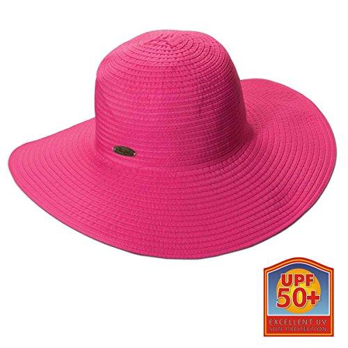 Panama Jack Women's Ribbon Floppy Packable Sun Hat, 4
