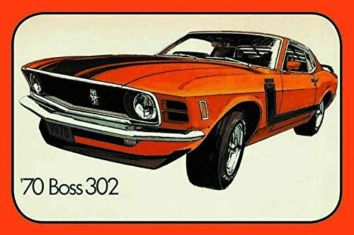 Cartel de Chapa genérica 30 x 20 cm Ford Mustang 1970 Boss ...