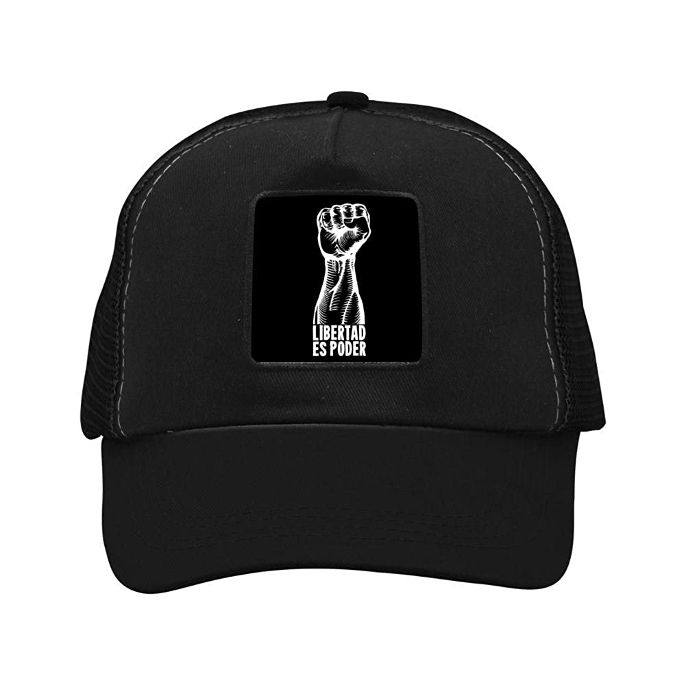 Nichildshoes hat Mesh Cap Hat Adjustable for Men Women Unisex,Print Libertad Human