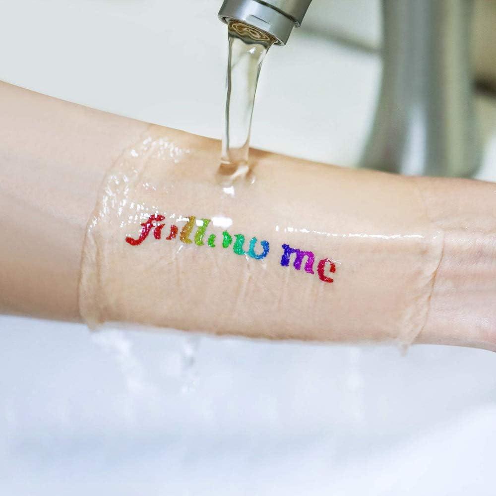 SunTop Tatuaje Purpurina Kit de Tatuajes Temporales, Tatuaje de ...