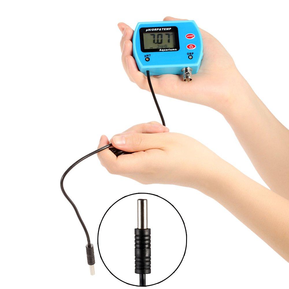 Digital pH Meter 3 in 1 Water Quality Tester Multi-parameter Drink Water Quality Analyser Online pH / ORP TEMP Meter Acidometer pH/ORP-999 by YARUIFANSEN