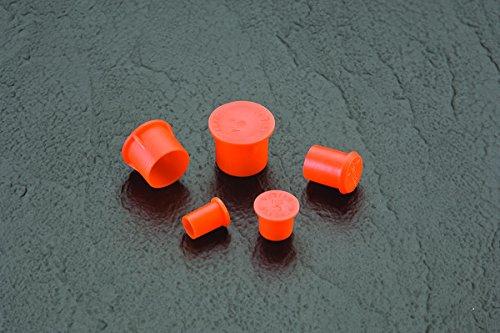 Caplugs QPZ5Q1 PZC-5 Plastic Sleeve Cap for Tube Ends, To Cap Thread Size 5/8'', PE-LD, Orange(Standard) (Pack of 1000) by Caplugs (Image #2)