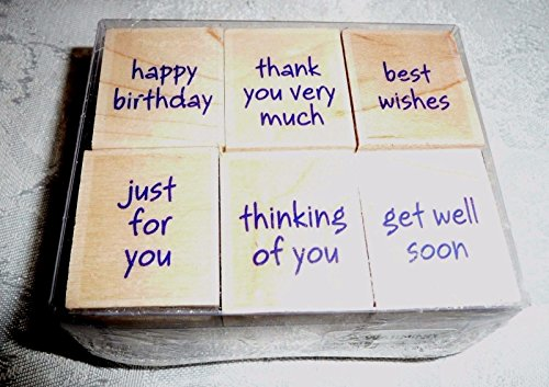 Hero Arts Greetings Woodblock Stamp Set, Small