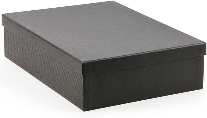 Caja de regalo de cartón, color negro, tamaño grande: Amazon.es: Oficina y papelería