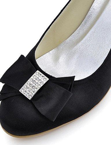GGX/Damen Schuhe Seide Low Ferse Heels/Schuhe Heels Hochzeit/Party & Abend/Kleid/Rosa/Violett/Rot/Weiß 2in-2 3/4in-purple