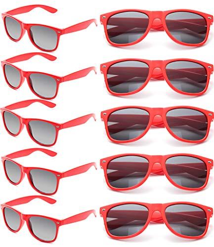 Mickey Mouse Sunglasses Party Favors (Wholesale Unisex 80'S Retro Neon Party Favor Sunglasses Bulk for Adults 10)