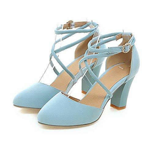 Adeesu Mujer Cuña Azul Sandalias Con 7q7n0S8