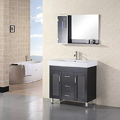 Design Element DEC021 Miami 36-in. Single Bathroom Vanity Set