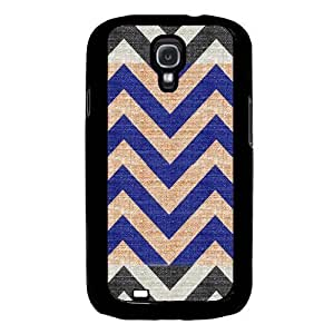 Cool Painting Fabric Chevron Samsung Galaxy S4 I9500 Case Fits Samsung Galaxy S4 I9500