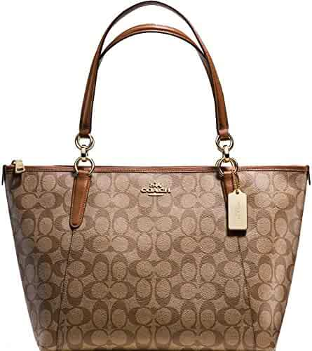 ffc8427fa9a1 SALE ! New Authentic COACH Signature Tote Shoulder Bag in Gorgeous Khaki    Saddle