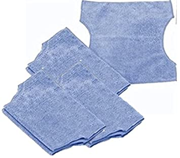 6 Pack Microfiber Cloth Compatible With Swiffer Sweeper, Bissell Steamboost, Swiffer 2 In 1 For Wet Mopping Or Dry Dusting   Reusable & Eco Friendly by Synonymous
