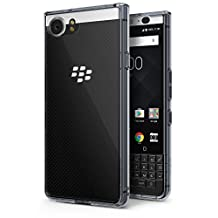 BlackBerry KEYone Case, Ringke [FUSION] Crystal Clear PC Back TPU Bumper [Drop Protection/Shock Absorption Technology] Raised Bezels Protective Cover - Smoke Black