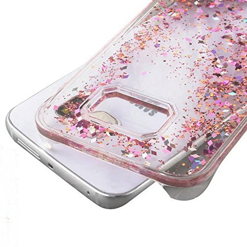 Galaxy S7 Edge Case , S7 Edge Quicksand Star Liquid Case, Surpriseyou Twinkle Little Stars Moving sand Liquid Shiny Bling Glitter Sparkle Hard PC Case for Samsung Galaxy S7 Edge (Pink Diamonds) Photo #2