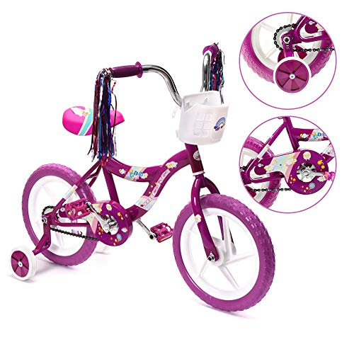 ChromeWheels 12 inch Bike for 2-4 Years Old Kids, EVA Tires and Training Wheels,Great for Beginner, Purple (Best Big Wheel For 2 Year Old)