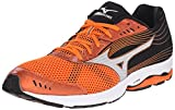 Cheap Mizuno Men's Wave Sayonara 3 Running Shoe, Vibrant Orange/Silver, 12.5 D US