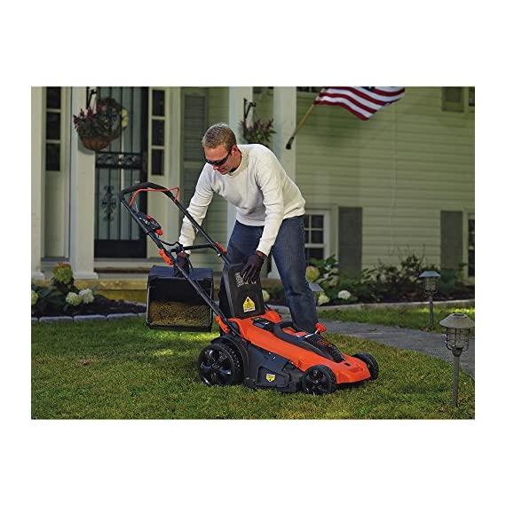 BLACK+DECKER 40V MAX Cordless Lawn Mower, 20-Inch (CM2043C) 4 Two 40V max Lithium ion batteries are included for twice the runtime Mulching, bagging and side discharge of grass clippings gives you 3-in-1 versatility Mow right up to edges and spend less time trimming thanks to the edgemax design
