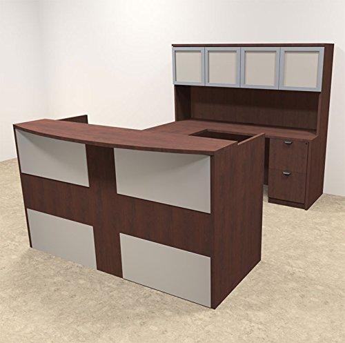 5pc U Shaped Modern Acrylic Panel Office Reception Desk, #OT-SUL-R18 by UTM