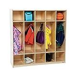 Wood Designs WD51254 5 Section Locker, 54''W