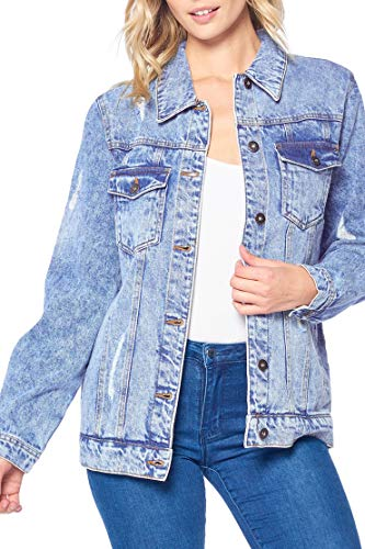 Style One Women's Distressed Denim Jackets