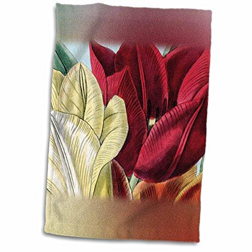 3dRose PS Vintage - Vintage Tulip Flowers - 12x18 Towel (twl_203816_1)