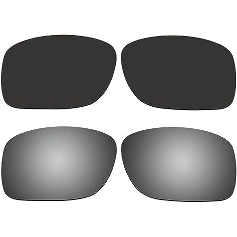 bbc4e36cc9 ACOMPATIBLE 2 Pair Replacement Polarized Lenses for Oakley Turbine XS  (Youth Fit) Sunglasses OJ9003