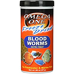 Omega One Freeze Dried Blood Worms 0.96oz