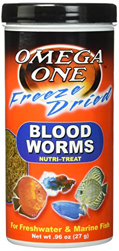 OMEGA One Freeze Dried Bloodworm .96oz, - Fish Bloodworms