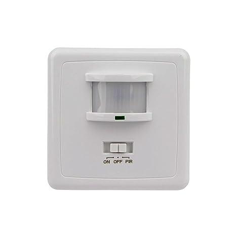 Khebang Detector Infrarrojo Sensor Movimiento 160 Angulo De Detección Color Blanco: Amazon.es: Iluminación